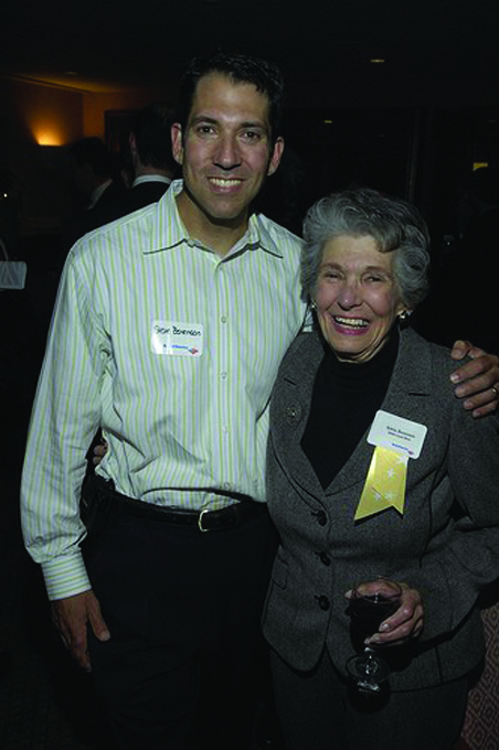 <p>Local Hero Syl Benenson with her son, Steve Benenson</p>